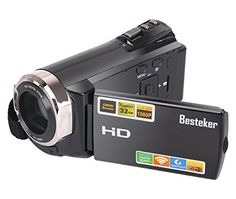 Besteker Camcorder- a perfect starter camera at an affordable price. New camcorder functions: WIFI and infrared night vision functions. You will not miss any of action when shooting videos with our Be...