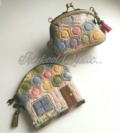 Coin Purse Pattern, Coin Purse Tutorial, Purse Patterns, Japanese Patchwork, Japanese Bag, Quilted Gifts, Quilted Bag, Patchwork Patterns, Patchwork Bags