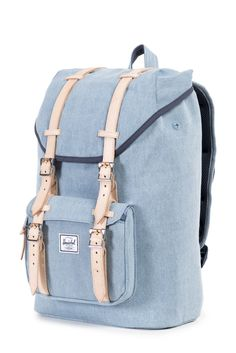 Herschel Supply Co. has outdone themselves with this dreamy backpack. Herschel Supply Co Backpack, Herschel Bag, Herschel Backpack Outfit, Herschel Backpack Little America, Cute Backpacks, School Backpacks, My Bags, Purses And Bags, Mochila Herschel