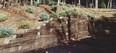You can build a retaining wall for a simple, economical way to terrace uneven ground and reduce dirt erosion.