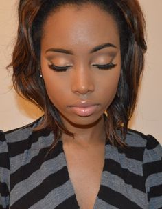 """Natural """"Everyday"""" Foundation Routine for Brown skin Women"""