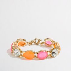 Neon beaded bracelet / j.crew factory