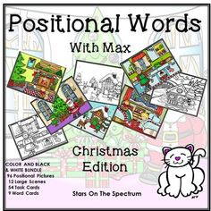 Prepositions: Prepositions Max the magical cat is back! Max loves Christmas and has 6 new adventures to share. Follow Max in, on, under and more! Max has Christmas fun all over the house  the bedroom, kitchen, den, living room outside and even appears at the North Pole!