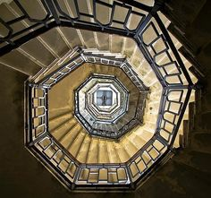 Looking up at the lighthouse in Brunate, Italy.