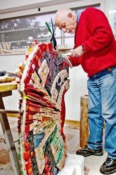 BRUNO ZENOBIO at work in his studio