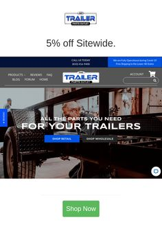 Best deals and coupons for The Trailer Parts Outlet Trailer Axles, Discount Tires, New Trailers, Retail Shop, Discount Shopping, Coupons, Shop Now, Free Shipping, September