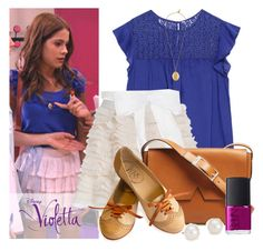 A fashion look from May 2015 featuring Zara tops, Oxford shoes and Vince messenger bags. Browse and shop related looks. Violetta Outfits, Violetta Disney, Girly Outfits, Disney Outfits, Simple Outfits, Betty Cooper Outfits, Our Generation Doll Clothes, Zara Tops, School Outfits