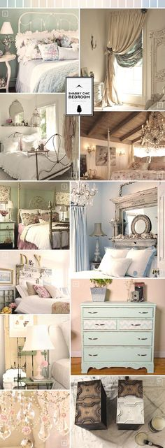 Shabby Chic Bedroom Ideas and Decor Inspiration @ Kylie Trueman This would be pretty in your house!