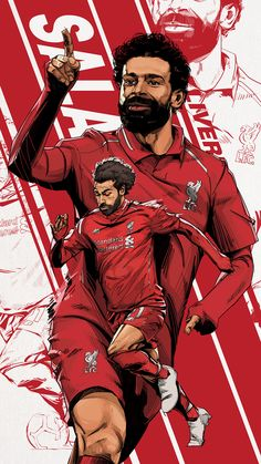 Liverpool Fc Wallpaper, Liverpool Wallpapers, Football Images, Football Art, Liverpool You'll Never Walk Alone, Salah Liverpool, Sports Graphic Design, Soccer Poster, Liverpool Football Club