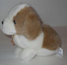 """1996 St Bernard Puppy Dog Plush Stuffed 6"""" Small Chosun Soft Classics #ChosunSoftClassics"""