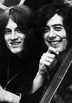 John Paul Jones and Jimmy Page of Led Zeppelin ♡