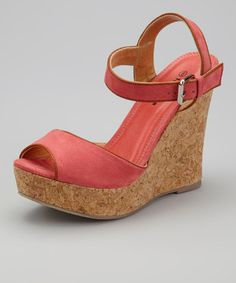 Take a look at this Fuchsia IN-27 Wedge Sandal by TOP MODA on #zulily today!