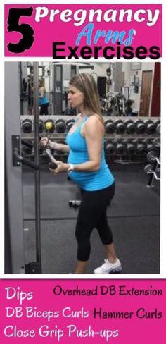 #Pregnancy Exercises to help tone the arms and not gain excess weight.  Do this Arms Workout while your pregnant.  do 20 reps of each in a circuit fashion. And then do the following CORE workout in this link, these exercises are safe to do during pregnancy and they will help prevent the postpartum pooch. http://michellemariefit.publishpath.com/core-exercises-during-pregnancy