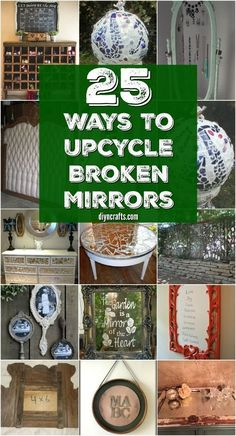 They say broken mirrors are bad luck - not true!  They are great for DIY projects that make your home an even more enjoyalble place to be! Check out these 20 Brilliantly Crafty DIY Ideas To Upcycle Broken Mirrors! So creative! #diyncrafts #easycrafts #diycrafts #crafts #recycle #upcycle #mirrors #brokenmirrors
