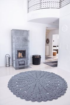 love this but can see my kids doing a big run up and sliding on it! Grey lace carpet