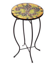 Love this Fleur De Lis Mosaic Table on #zulily! #zulilyfinds