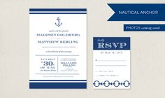 *This invitation suie has adorable coctail napkins and straw flags* | Adori Designs.com