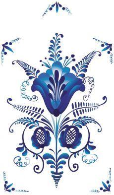 Folk Gzhel painting from Russia. Floral pattern. #Russian #folk #art #patterns | koguty i wielkanoc