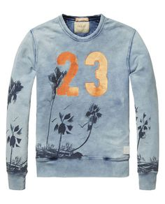Sweater met print - Scotch & Soda