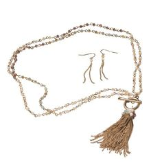 The Paper Store Convertible Tassel Necklace and Earrings Set at The Paper Store