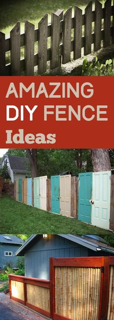 Amazing DIY Fence Ideas - Our house already has a complete privacy fence in the back yard