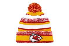 7e5d2db9ddb Amazon.com   Kansas City Chiefs 2014 On Field Sport Cuffed Pom Knit Beanie  Hat