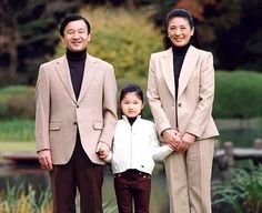 Japanese Prince, Princess and their only daughter.
