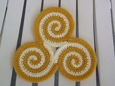 Ravelry: Triskele - The Triple Spiral pattern by Jessica Prescott free pattern