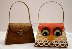 Stampin' Up Petite Purse die owl and Etruscan Elegance