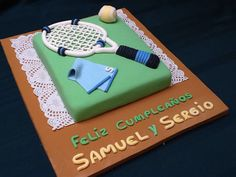 Birthday cake for tennis lovers.