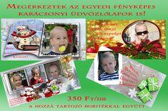 Egyedi fényképes karácsonyi üdvözlőlapok 10x20 méretben + a hozzá tartozó boriték
