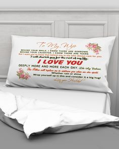 To My Wife Great Gifts For Wife, Fabric Envelope, How To Know, Laughter, Love You, Posters, Shirts, Te Amo, Je T'aime