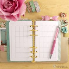 PenGems Free Planner Insert Month on Two Pages