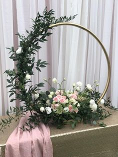 Floral hoop flowers ring Wreaths - moon gate == package of 5 with base unpainted == .your desire sizes and and bundles welcome - Wedding Floral - tischdekoration hochzeit Church Flower Arrangements, Flower Centerpieces, Wedding Centerpieces, Wedding Table, Diy Wedding, Floral Arrangements, Rustic Wedding, Wedding Decorations, Church Flowers