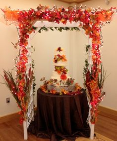 Fall Wedding Decor something like this only add the pink?