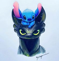 Toothless and stitch by them selves are cute but, even cuter together😻 Cute Disney Drawings, Cute Animal Drawings, Kawaii Drawings, Drawings Of Disney Characters, Funny Drawings, Cute Disney Wallpaper, Cartoon Wallpaper, Arte Disney, Disney Art