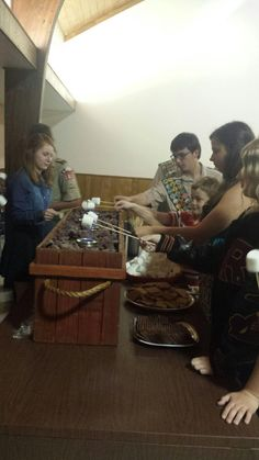 The s'mores bar was a HUGE hit at the Eagle Court of Honor. Parents, scouts and siblings just loved bringing the camping favorite to the reception. Thanks www.royalfig.com Cub Scouts, Girl Scouts, Girl Scout Gold Award, Eagle Scout, Scouting, Siblings, Eagles, Parents, Reception