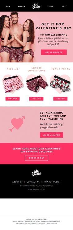 Looks interesting, doesn't it? @meundies  's V-day promo email ❤