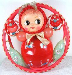 Vintage Baby Toys, Retro Baby, Vintage Nursery, Vintage Dolls, Vintage Children, Retro Girls, Children Toys, Vintage Stuff, Toy Trunk