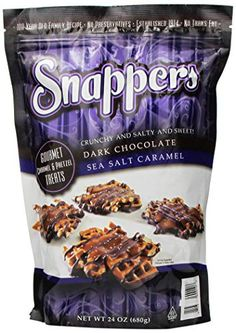 Snappers Crunchy and Salty and Sweet Dark Chocolate Sea Salt Caramel 24 Oz (Pack of 2) - http://bestchocolateshop.com/snappers-crunchy-and-salty-and-sweet-dark-chocolate-sea-salt-caramel-24-oz-pack-of-2/