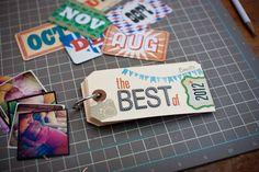 Celebrate the Best of 2012 mini album idea by @Jennifer Wilson