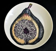 Nine Piero Fornasetti Vintage Fruit Plates | From a unique collection of antique and modern porcelain at https://www.1stdibs.com/furniture/dining-entertaining/porcelain/