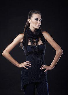 Iva Sokovic Intense Blue Deconstruct Bondage Dress and Bolero Power Dressing, Fall Winter, Women Wear, Blue, Collection, Tops, Dresses, Fashion, Vestidos