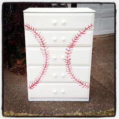 baseball dresser... Could be made to look like a softball.