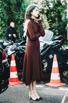 PFW SS 2016 | Street Style | Leandra Medine | Chanel Shoes with Celine Open Back Dress | Photo: collagevintage.com