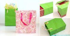 Aprende cómo hacer bolsas con papel reciclado o reutilizado para envolver regalos de una manera económica, sencilla y muy original.