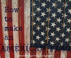 How to make a salvaged wood American flag