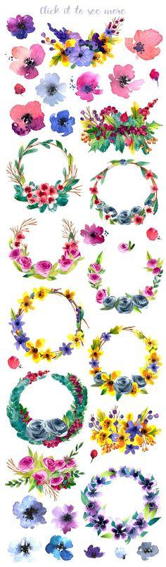 Hand-drawn flower MEGAPACK - Illustrations