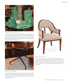 'Starring Trends from a Designer's Perspective' article I wrote featuring Oct 2013 #hpmkt trends for Texas Home & Living Aug 2013 issue