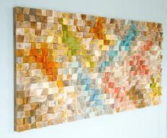 Wood Wall Art geometric wood art SAle mosaic от ArtGlamourSligo
